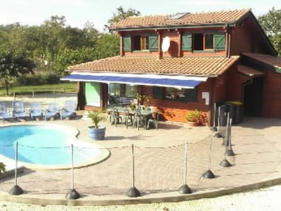 Photo for Soulac sur Mer HOUSE WITH PRIVATE POOL AND SPA not overlooked near the sea