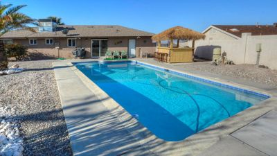 Photo for Lake and Mountain View, a Pool and Tiki Bar Havasu Paridise!