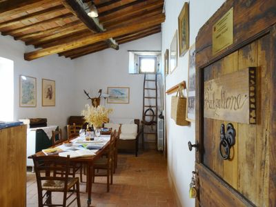 Photo for Apartment in farmhouse in Tuscany in Chianti Balzel with private lake garden