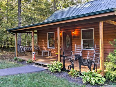 Photo for Smoky Mountain Rustic Log Cabin w/Furnished Patio!