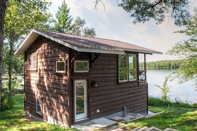 Peace, quiet and relaxation await you at this wonderful lakefront Brainerd vacation rental cabin!