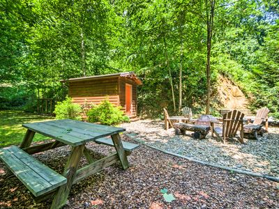 Photo for Secluded Bryson City Cabin w/ Hot Tub & Fire Pit