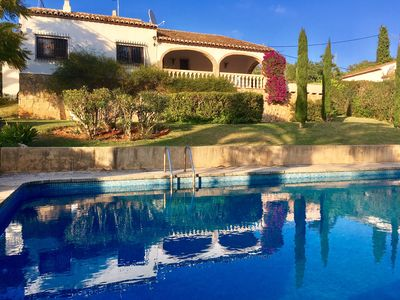 Photo for Superb for family holidays with a fantastic outside space and a huge pool!