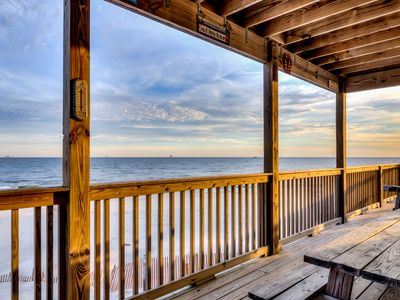 Photo for NEW LISTING! Spectacular Gulf-front home w/covered porch & views - on the beach