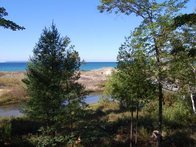 Photo for Riverfront 2b/2b Condo with Lake Michigan Access & Views in Glen Arbor.