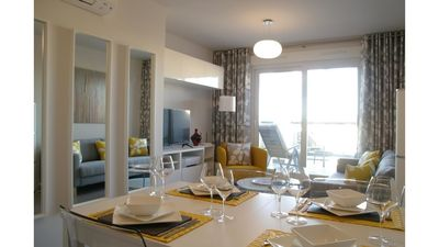 Photo for Stylish, new apartment close to sandy beach,  Denia port and town.