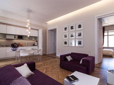 Photo for Karoly Premium Deco Suite, WiFi, AC on 90 sq.meters 2 BR, 2 BA in the Downtown