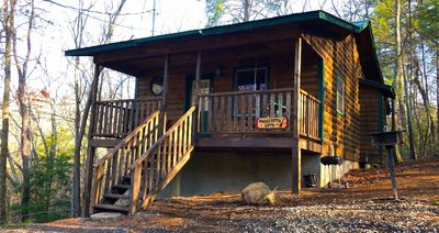 Photo for PRIVATE Cozy Cabin - Escape from real life for awhile at this comfy retreat!