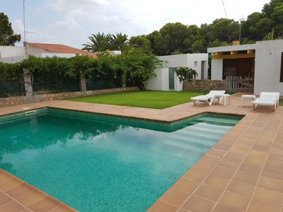 Photo for Villa 6 pax in Tres Calas quiet 300m from the beach Private Pool Barbecue Wi-Fi