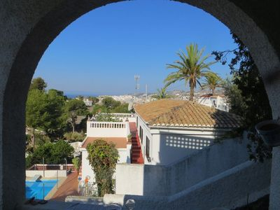Photo for Family house with pool, sun and view to the sea