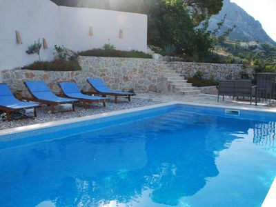 Photo for ctpo161 - Holiday house with heated pool, three houses, a yard with the table and the polling area