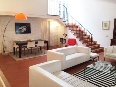 Photo for La Piazzetta: stylish, beautiful apartment with a large terrace and porch