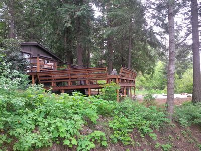 Photo for This Pet- Friendly, Cedar Forest Retreat Overlooking Murphy Bay