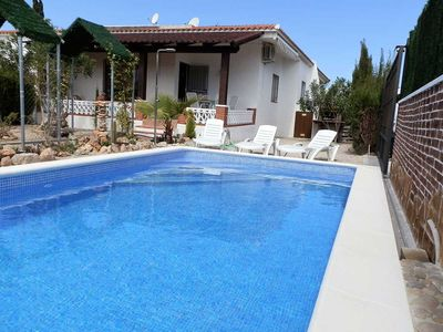 Photo for CASA PIRU,Ideal house for your holidays near the sea, free wifi, air conditioning, private pool, pets allowed, dog's beach.