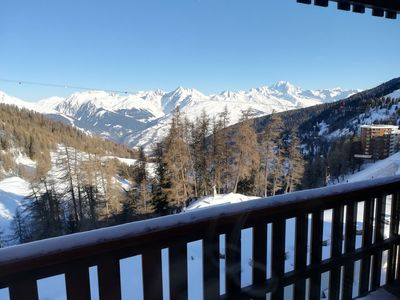 Photo for Apartment Plagne Center 5/7 pers - Mt Blanc view - 50m from the snow front