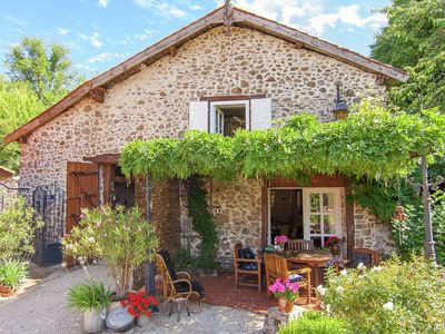 Photo for Detached, romantic cottage with communal swimming pool, terraces and large garden