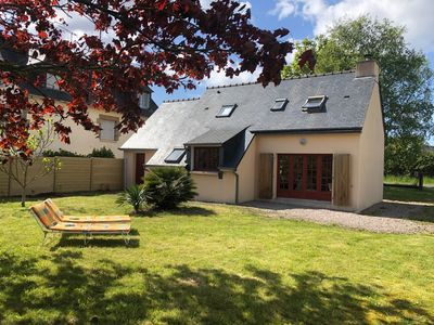 Photo for Quiet house with large garden in FREHEL, Pléhérel Plage, 800 m from the beach