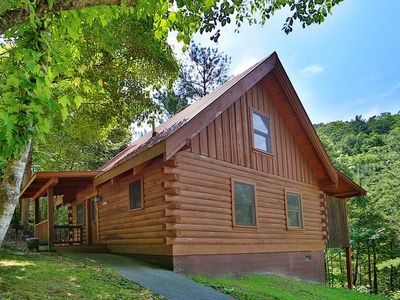 Photo for Cozy Cabin w/ Fireplace, Hot Tub, Air Hockey! Free On Site Pool, Putt Putt, Fishing, Hikes and more!