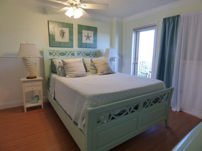 Newly Remodeled Bedroom with direct access to the balcony.