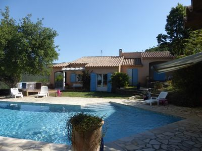 Photo for Villa for 6 people with heated pool and sea view