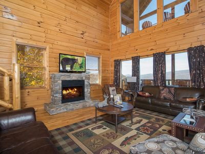 Photo for New Low Rates!| Theatre in the Mountains| Mountain Views| WiFi| Theater Room| Pigeon Forge| Hot Tub