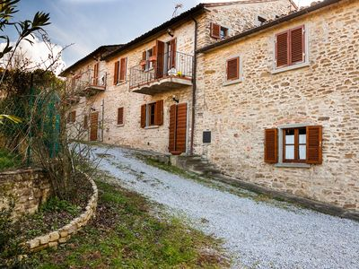 Photo for TRILOCALE 90sqm in a stone farmhouse, near Tuscan hill Arezzo