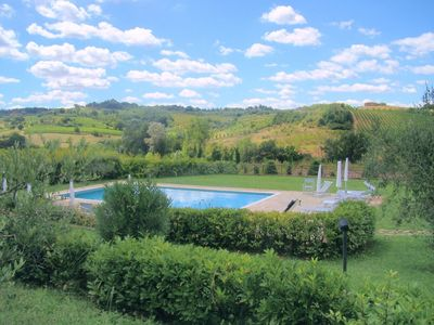 Photo for Ancient farmhouse located in the hills of Chianti. 24 sleeping places, Wi-Fi access, air conditionin