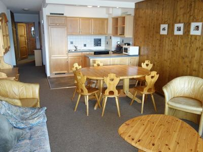 Photo for 2*, 1-bedroom-apartment for 4 to 6 people next to the cable car near the center. Living room with tw