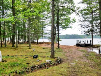 Photo for 4 Seasons, Charming Lakefront Cottage on Ess Lake