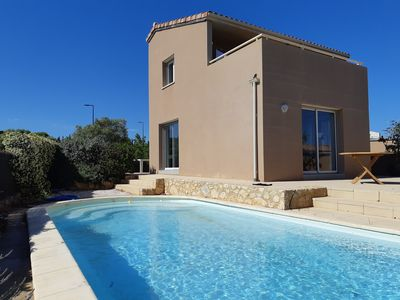 Photo for NEW LEUCATE Villa with private pool and sea view near the beach