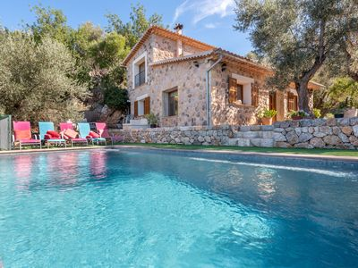 Photo for Spacious Villa Can Barretes with Mountain View, Sea View, Wi-Fi, Pool & Terrace; Parking Available
