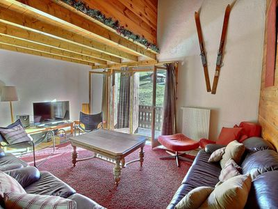 Photo for SKI-IN / SKI-OUT Les Crosets, 3 bedrooms, wifi, on the slopes, indoor garage (8-W)
