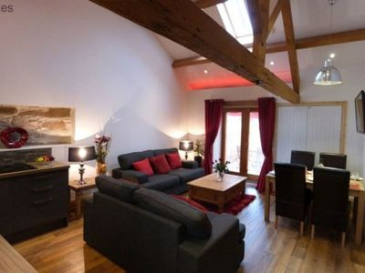Photo for Nice apartment for 4 guests with hot tub, WIFI, TV and parking