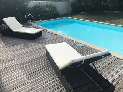 Photo for Charming villa in Biarritz with heated pool.