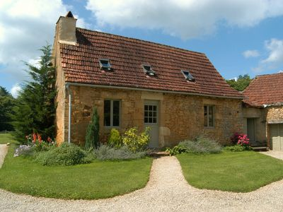 Photo for Pichoutou - Beautiful stone farmhouse in private hamlet with 20 acres of land