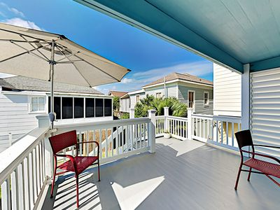 Deck - The private, covered deck is a great spot for alfresco dining.