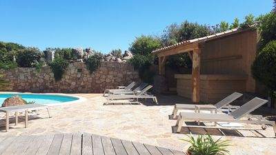 Photo for Large house with heated pool in Marina di Fiori for 14 people