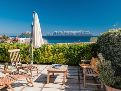 Photo for BAIA CADDINAS - Apartment with beautiful panoramic terrace - 200 mts from the beach - Golfo Aranci -