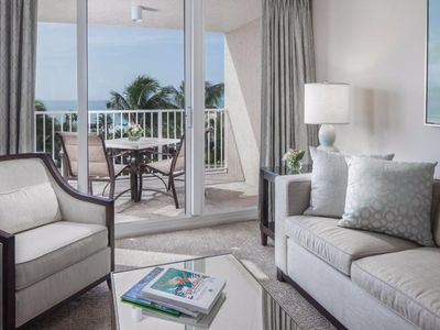 Photo for Newly renovated Gulf View 1BR Suite with a Balcony, Right on the Beach, Pool Spa