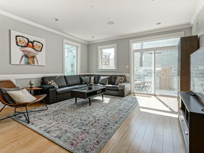 Photo for Extravagant!  Roof Deck! Free St. Parking! Sleeps 2-16!
