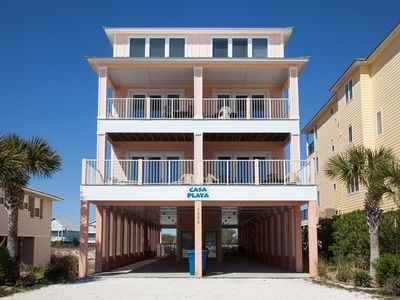 Photo for Casa Playa West - Spacious, well-appointed duplex with pool right across the street from the beach.