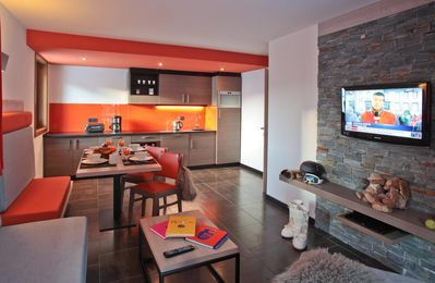 Photo for Surface area : about 75-80 m². Living room with settee. 2 bedrooms with shower, 2 single beds, WC