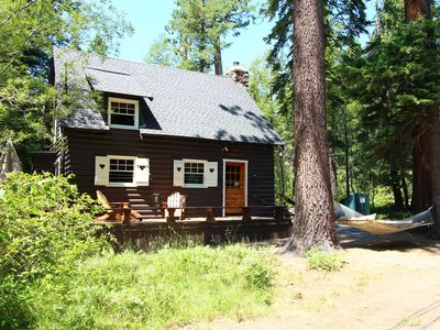 "Photo for Adorable ""Old Tahoe"" Cabin, walk to lake, lovely setting, hiking nearby"