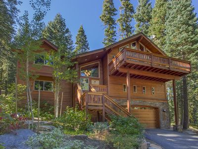 Photo for Relax Amid a Towering Pines Forest with Large Sunny Decks and Hot Tub