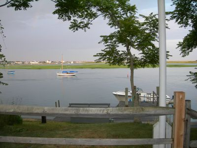 view of Bass River Stage Island and Dennis from  private dock