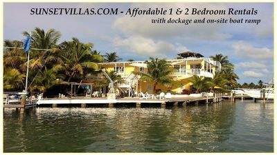 Photo for Sunset Villas - Affordable Open Waterfront Accommodations with Dockage & Ram