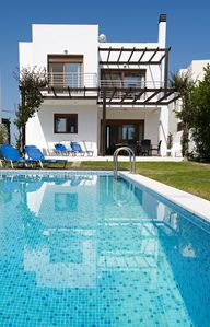 Luxury 3 bedroom villa Nisso  with private pool and sea views. Beautiful pool