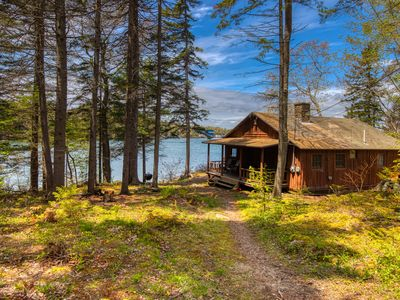 Photo for NEW LISTING! Oceanfront cabin w/ ocean view, fireplace & private dock - dogs OK!