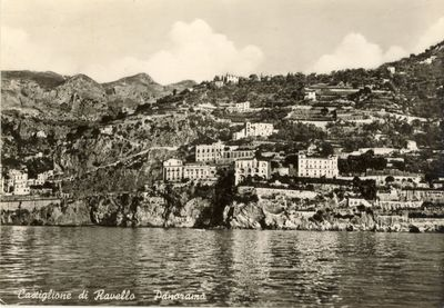 Postcard early XX c., with view over Casa Gargano