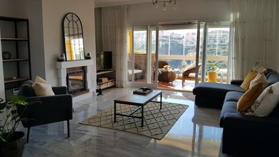 Photo for Sunny Penthouse Apartment, Rooftop Terrace and Panoramic Sea Views